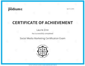 My Social Media Marketing Certification Through Hootsuite